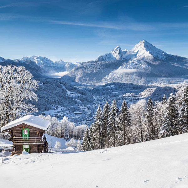 Kerstlandschap in de Beierse Alpen
