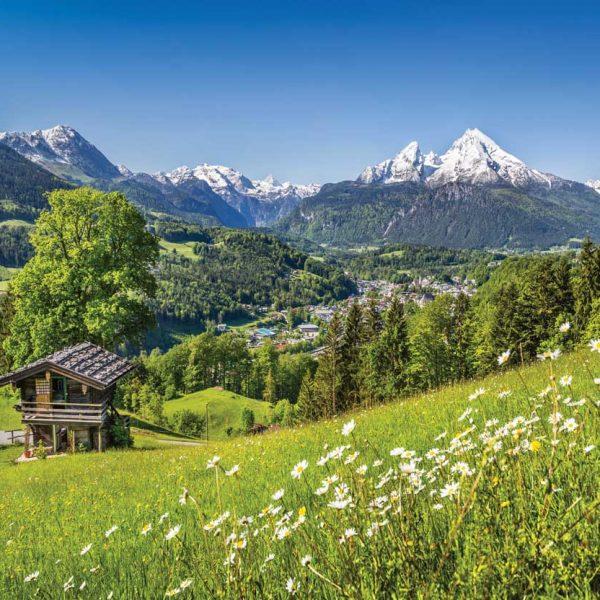 Lentelandschap Beierse Alpen